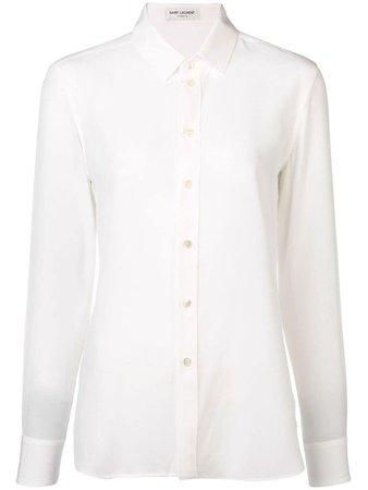 white collared shirt blouse