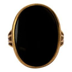 Edwardian Onyx and Gold Signet Ring at 1stdibs