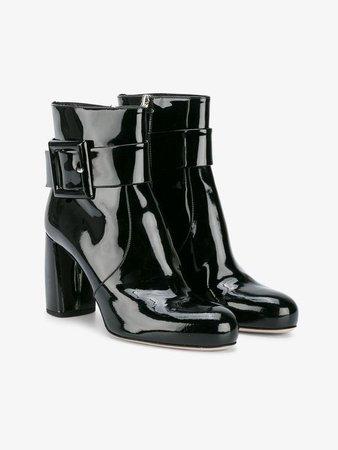 Miu Miu Black Patent 90 ankle boots