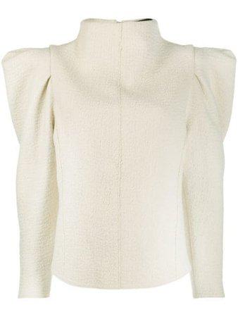 Isabel Marant puff-shoulder long-sleeve Blouse - Farfetch