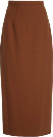 Emilia Wickstead Lorita Wool-Blend Pencil Skirt