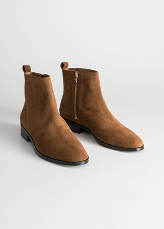 Suede Chelsea Boots - Camel - Chelseaboots - & Other Stories