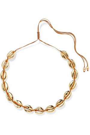 Tohum   Large Puka gold-plated necklace   NET-A-PORTER.COM