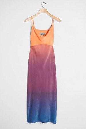 Printed Bias Slip Dress | Anthropologie
