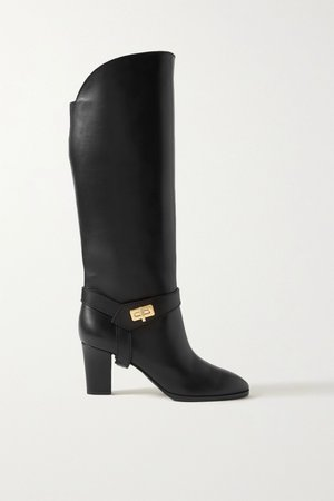 Black Eden leather knee boots | Givenchy | NET-A-PORTER