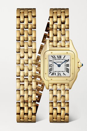 Gold Panthère de Cartier 22mm small 18-karat gold watch | Cartier | NET-A-PORTER