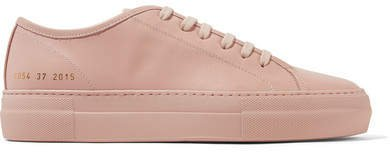 Tournament Leather Sneakers - Blush