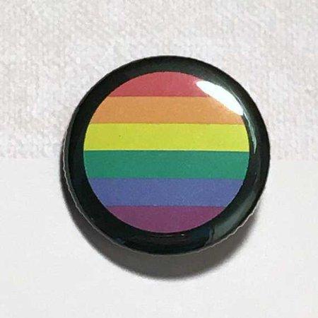 Gay flag LGBTQ gay flag button pin round Rainbow flag