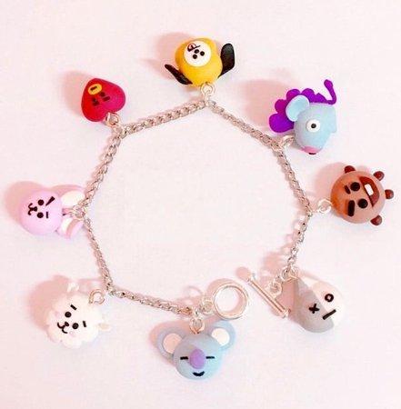 BT21 charm bracelet