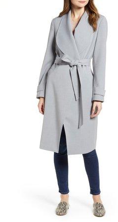 Drape Collar Wrap Coat