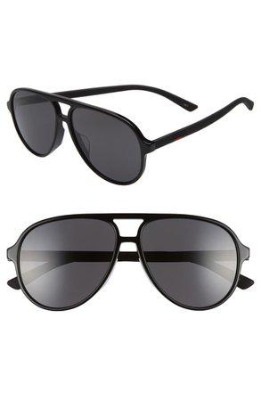 Gucci 60mm Aviator Sunglasses | Nordstrom