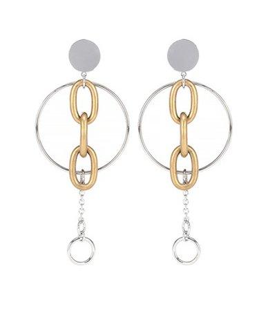 Clip-on drop hoop earrings