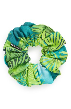 Versace First Line Tropical Hair Scrunchie | Nordstrom