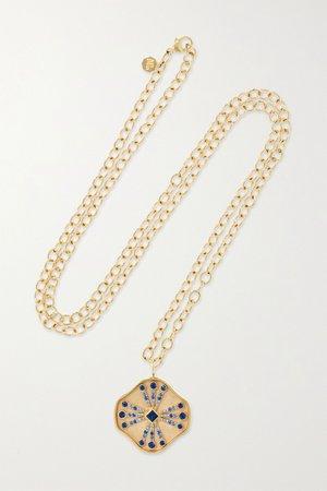 Gold Guiding Light 14-karat gold sapphire necklace   Marlo Laz   NET-A-PORTER
