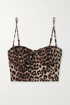 Leopard-print Underwired Bikini Top - Leopard print