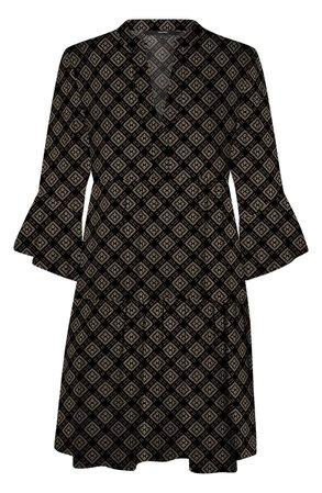 VERO MODA Kay Bell Sleeve Minidress black