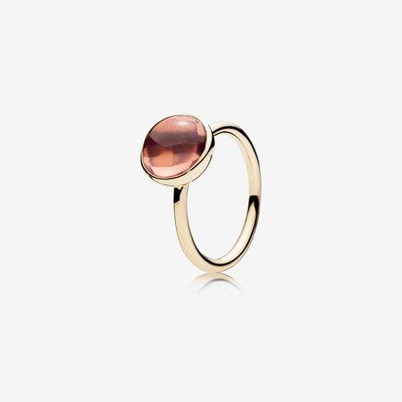 Poetic Droplet, 14K Gold & Blush Pink Crystal - FINAL SALE   Gold   Pandora Canada