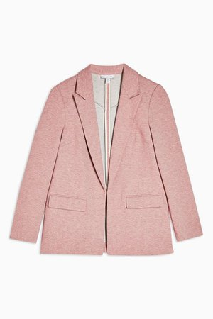 Pink Jersey Double Breasted Blazer | Topshop