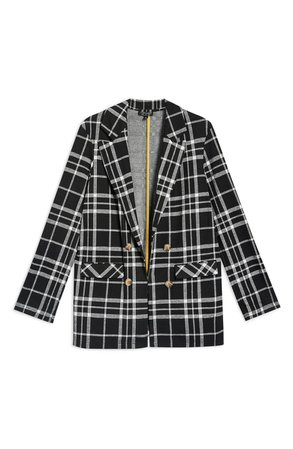 Topshop Double Breasted Check Jacket   Nordstrom