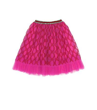 Gucci Kids - Embroidered tulle skirt | Mytheresa
