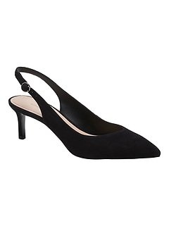 Black Slingback Pump | Banana Republic
