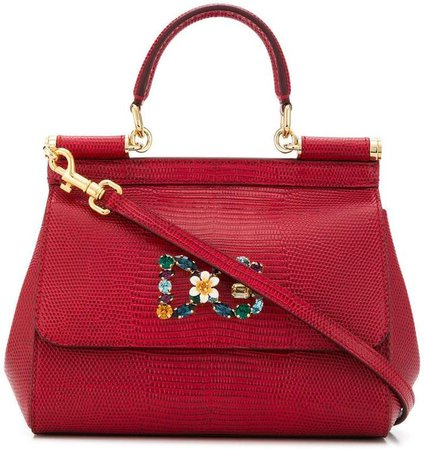 bouquet brooch tote bag