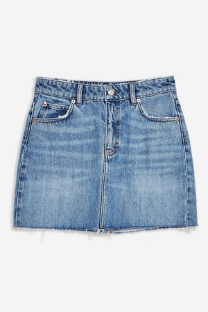 Mid Blue Denim Mini Skirt | Topshop