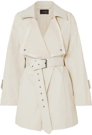 Jamelo Belted Cotton-blend Gabardine Trench Coat - Ecru