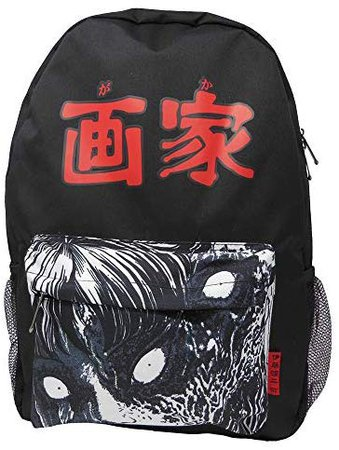 Amazon.com   Ripple Junction Junji Ito Tomie Face with Kanji Backpack   Casual Daypacks