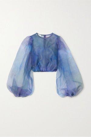 Blue Nebula organza blouse   Beaufille   NET-A-PORTER