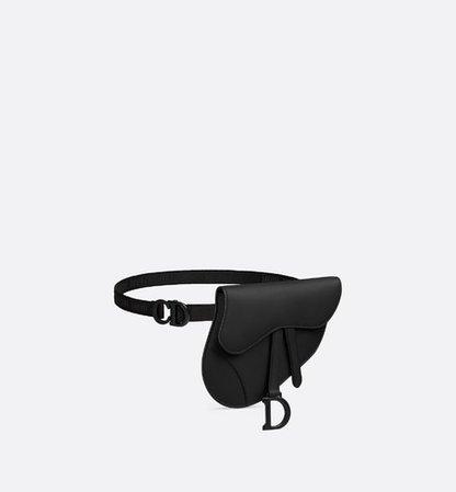 Saddle belt clutch in ultra-matte calfskin - Bags - Women's Fashion | DIOR