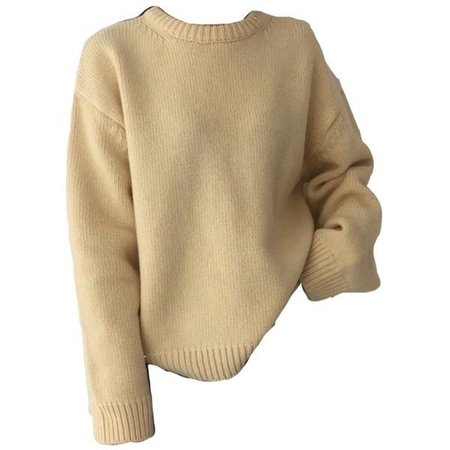 beige sweater jumper