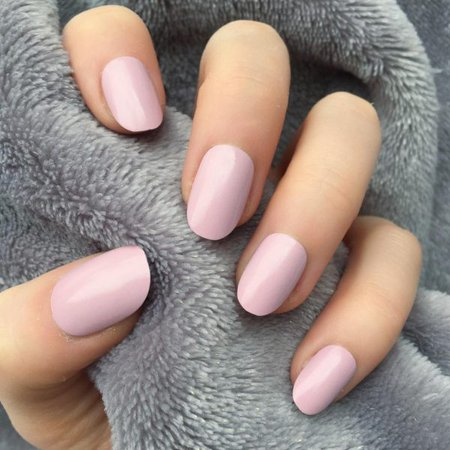 Candy Pink Gloss Short Oval – Doobys Nails