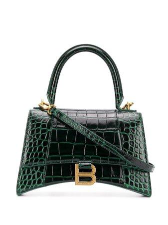 Green Balenciaga Hourglass small top handle bag 5935461LRGM - Farfetch