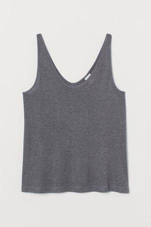 Lyocell Tank Top - Gray melange - Ladies | H&M US