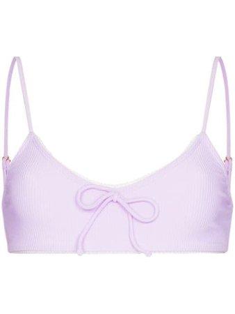 Shop purple Juillet Dani lace-trimmed bikini bottoms with Express Delivery - Farfetch