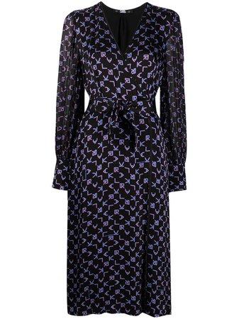 Karl Lagerfeld платье с запахом и принтом -50%- купить в интернет магазине в Москве   Цены, Фото.