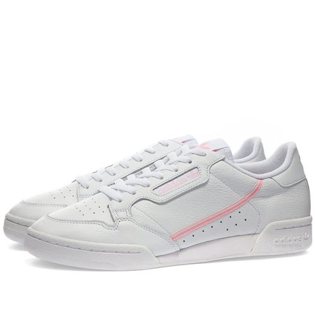 Adidas Continental 80 W White, True Pink & Clear Pink   END.