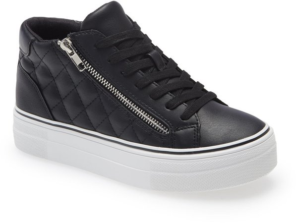 Gryphon Quilted Faux Leather High Top Sneaker