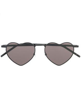 Saint Laurent Eyewear Heart-Shaped Sunglasses Aw20   Farfetch.Com