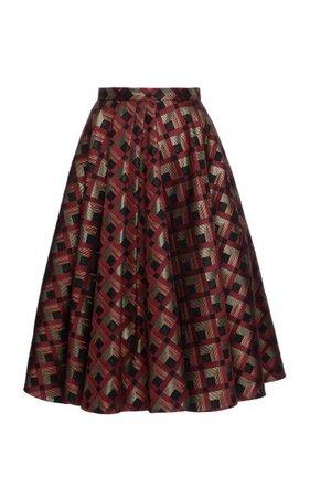 Maisir Pleated Jacquard Full Skirt By Lena Hoschek | Moda Operandi