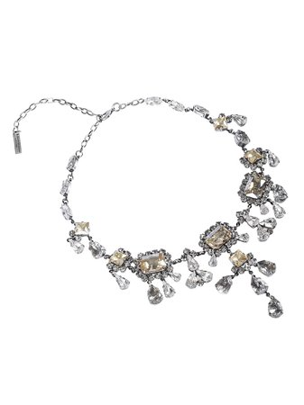 Ermanno Scervino Crystal Embellished Necklace