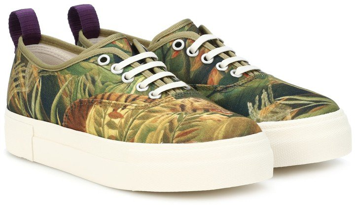Mother printed canvas sneakers