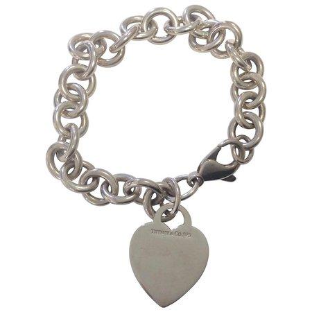 Tiffany Sterlilng Heart Bracelet : Charles Anthony Antiques   Ruby Lane