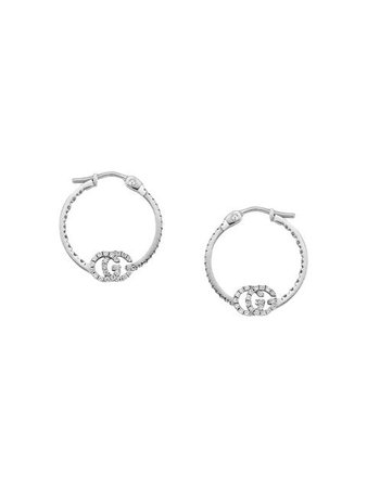 Gucci GG Running earrings with diamonds $2,900 - Buy AW19 Online - Fast Global Delivery, Price