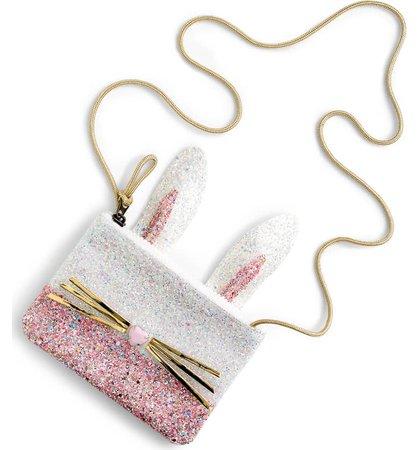 crewcuts by J.Crew Glitter Bunny Pouchette (Girls) | Nordstrom