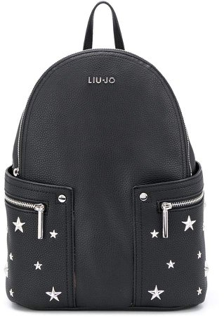 star-studded grained backpack