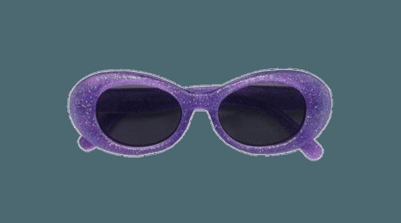 Oval Retro Sunglasses (purple)