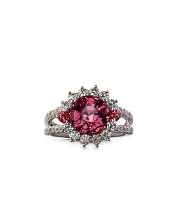 Robert Erich Burma Pink Spinel Ring with Diamonds, Size 6.75 | Neiman Marcus