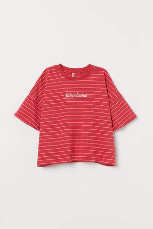 Oversized T-shirt - Red